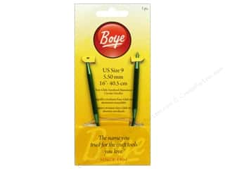 Boye Knitting needle: Boye Circular Knitting Needles Aluminum 16 in. Size 9