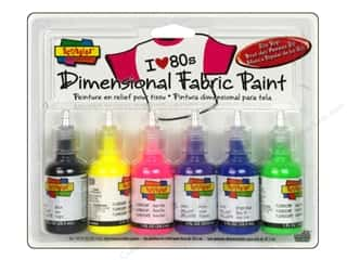 Scribbles Dimensional Fabric Paint Set 80's Pop 6pc