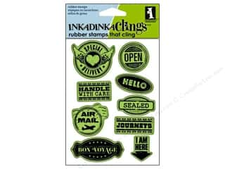 Inkadinkado InkadinkaClings Rubber Stamps Delivery Labels