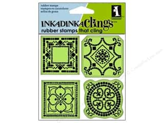 Inkadinkado InkadinkaClings Rubber Stamp Mosaic Tiles