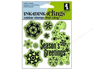 Inkadinkado Stamp Inkadinkaclings Snowflakes