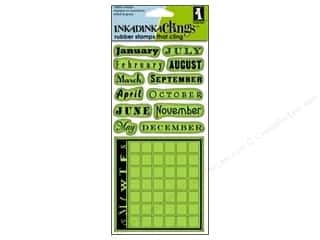 Inkadinkado Inkadinkaclings Stamp Month Data Calendar