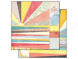 SEI Paper 12x12 Vanilla Sunshine Perforated Sheet (25 piece)