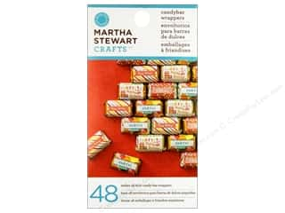 Party Supplies Captions: Martha Stewart Food Packaging Candy Bar Wrappers Mini Modern Festive