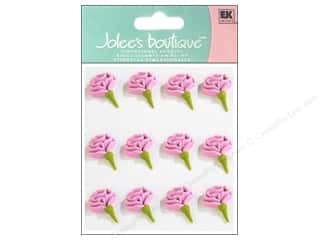 Cabbage Rose Clearance Crafts: Jolee's Boutique Stickers Confection Icing Rose Buds Pink