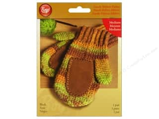 Yarn & Needlework Clearance: Boye Suede Mitten Palms Medium Black