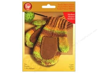 Yarn & Needlework Clearance: Boye Suede Mitten Palms Medium Tan
