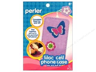 Felting Crafting Kits: Perler Sew & Stuff Kit Cell Phone Case Lilac