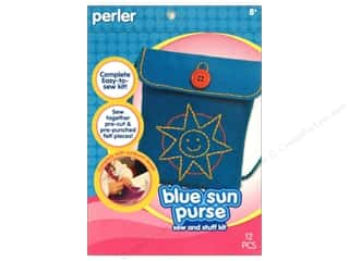 Perler Sew & Stuff Kit Sun Purse Blue