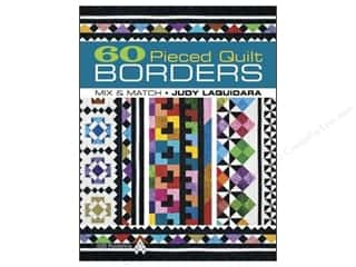 Clearance Books: American Quilter's Society 60 Pieced Quilt Borders Mix & Match Book by Judy L. Laquidara