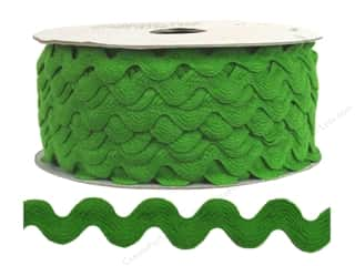 Ribbon Work Tapes: Ric Rac by Cheep Trims  1/2 in. Lime (24 yards)