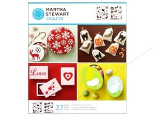 Christmas New Year: Martha Stewart Stencils by Plaid Holiday Icons Medium