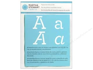 Martha Stewart Crafts ABC & 123: Martha Stewart Stencils by Plaid Alphabet Typewriter