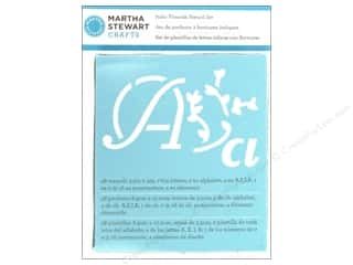 Martha Stewart Crafts ABC & 123: Martha Stewart Stencils by Plaid Alphabet Italic Flourish