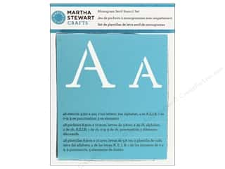 Martha Stewart Crafts ABC & 123: Martha Stewart Stencils by Plaid Alphabet Monogram Serif