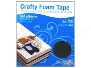 Glue and Adhesives Black: 3L Scrapbook Adhesives Crafty Foam Tape 13 ft. Black