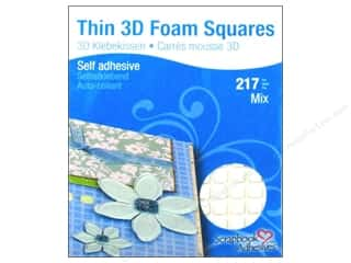 therm o web foam adhesive: 3L Scrapbook Adhesives 3D Foam Squares 217 pc. Thin White Mix