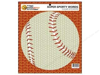 Sports Stickers: Scrappin Sports Sticker Clear Sporty Words Softball (10 pieces)