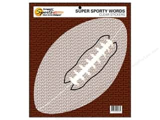 Scrappin Sports Sticker Clear Sporty Words Footbll (10 piece)
