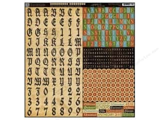 Graphic 45 Sticker Olde Curiosity Shoppe Alphabet