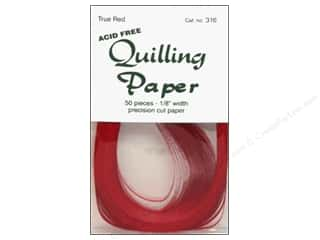 "Lake City Crafts Quilling Paper 50pc 1/8"" True Red"