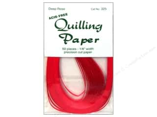 "Lake City Crafts Clearance Crafts: Lake City Crafts Quilling Paper 50pc 1/8"" Deep Rose"