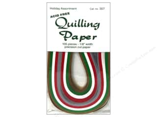 "Lake City Crafts Quilling Paper 105pc 1/8"" Holiday"