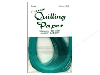"Lake City Crafts Quilling Paper 50pc 1/8"" Aqua"