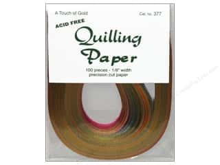 "Kelly's Burgundy: Lake City Crafts Quilling Paper 100pc 1/8"" Touch Gold"