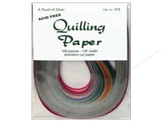 "Kelly's Burgundy: Lake City Crafts Quilling Paper 100pc 1/8"" Touch Silver"