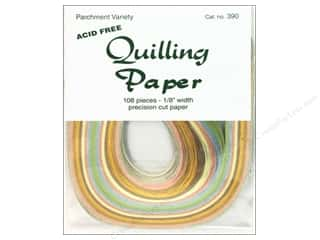 "Lake City Crafts Clearance Crafts: Lake City Crafts Quilling Paper 108pc 1/8"" Parchment"