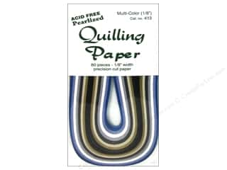Lake City Crafts Quilling Paper 80pc 1/8&quot; Pearl