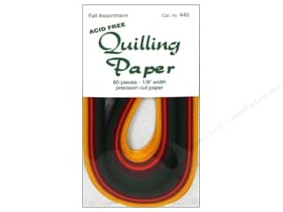 Lake City Crafts Quilling Paper 1/8&quot; Fall 80pc