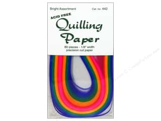 Lake City Crafts Quilling Paper 1/8&quot; Bright 80pc