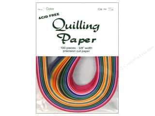 Lake City Crafts Quilling Paper 100pc 3/8&quot; Multi