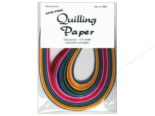 "Quilling Paper Crafting Tools: Lake City Crafts Quilling Paper 100pc 1/4"" Multi"