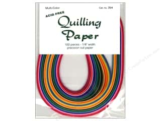"Quilling Paper Crafting Tools: Lake City Crafts Quilling Paper 100pc 1/8"" Multi"