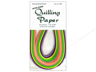 Lake City Crafts Quilling Paper 1/8&quot; Spring 80pc