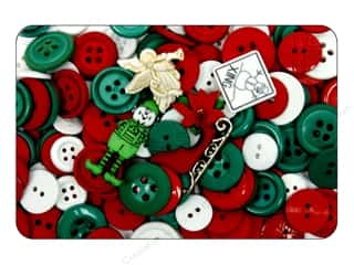 Jesse James Buttons Scrapbooking: Jesse James Dress It Up Embellishments Grab Bag Christmas