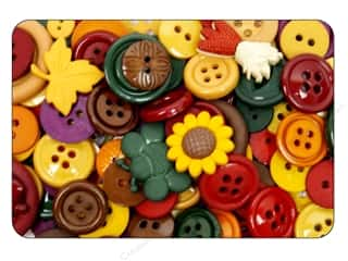 Fall / Thanksgiving Buttons: Jesse James Dress It Up Embellishments Grab Bag Fall