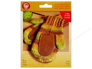 Gloves Clearance Crafts: Boye Suede Mitten Palms Large Black