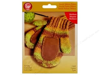 Yarn & Needlework Clearance: Boye Suede Mitten Palms Medium Light Grey