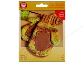 Gloves: Boye Suede Mitten Palms Large Light Grey