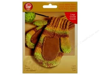 Gloves Clearance Crafts: Boye Suede Mitten Palms Large Tan