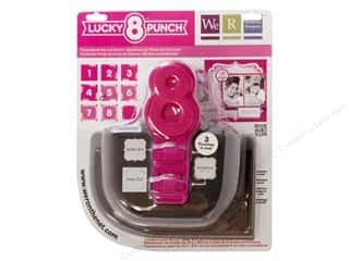 Clearance Uchida Tri-Corner 3 in 1 Punch: We R Memory Punch Lucky 8 Floral Burst