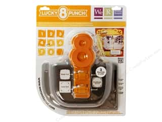 Clearance Uchida Tri-Corner 3 in 1 Punch: We R Memory Punch Lucky 8 Classic Wreath