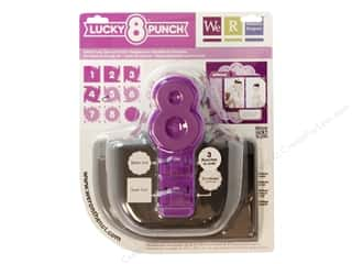 Clearance Uchida Tri-Corner 3 in 1 Punch: We R Memory Punch Lucky 8 Tatted Doily