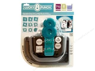 Clearance Uchida Tri-Corner 3 in 1 Punch: We R Memory Punch Lucky 8 Retro Scallop