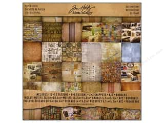 Tim Holtz Idea-ology Paper Stash 12x12 Destination