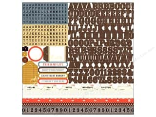 "Echo Park Paper Company Alphabet Stickers: Echo Park Sticker 12""x 12"" Note To Self Alphabet (15 sets)"